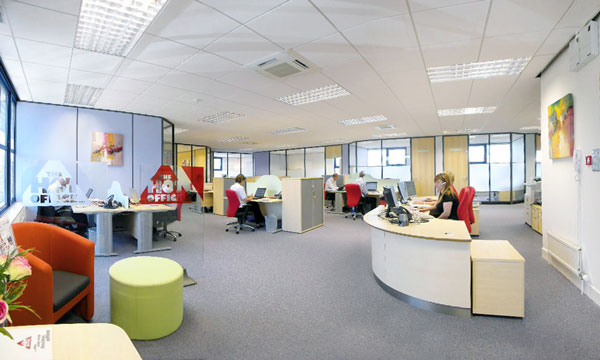 Hot Office power lighting and data cabling